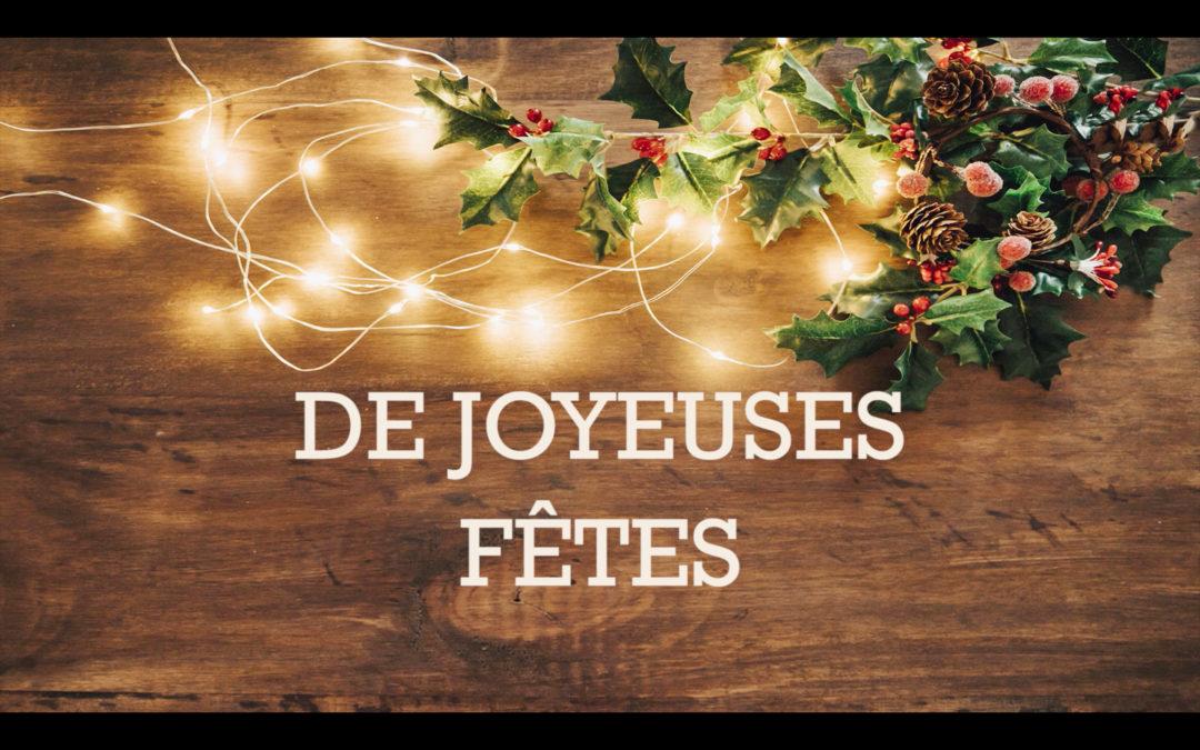 BONNES FETES DE FIN D'ANNÉE 2017